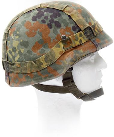 BW composite helmet cover, reversible, Flecktarn/white, surplus