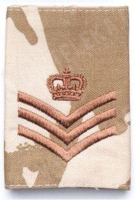 British rank insignia, Desert DPM, surplus