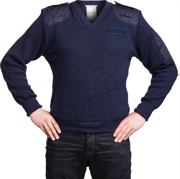 British jersey, men's, blue, V-neck, surplus