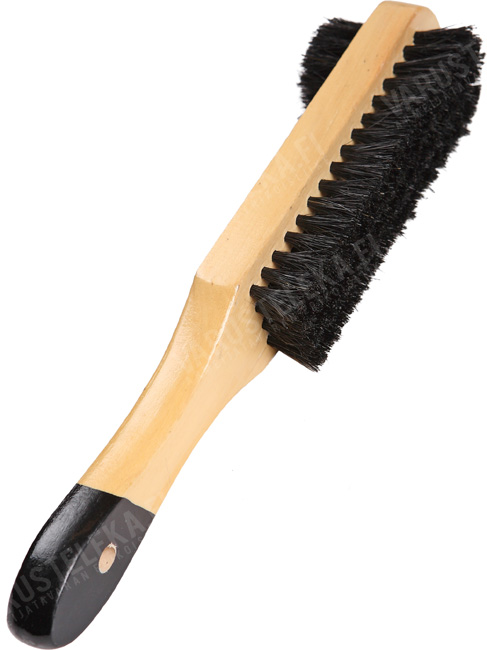 Shoe brush, dual action