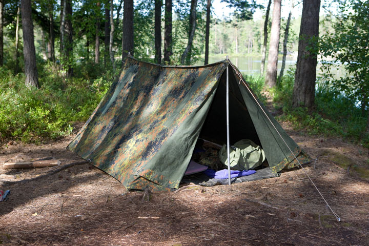BW two man tent, Flecktarn, used