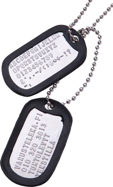 US Dog Tags, with custom text