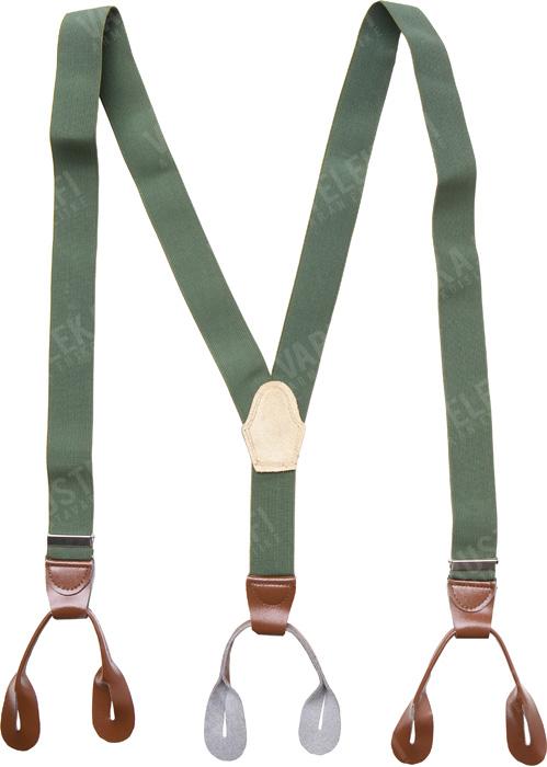 Czechoslovakian trouser braces, green, surplus