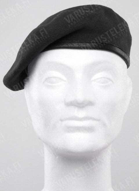 BW beret, new, black