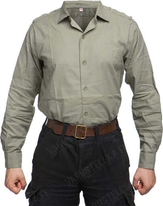 Czechoslovakian M21 service shirt, fully buttoned, surplus