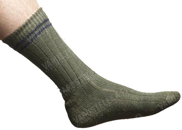 Finnish boot socks, olive green