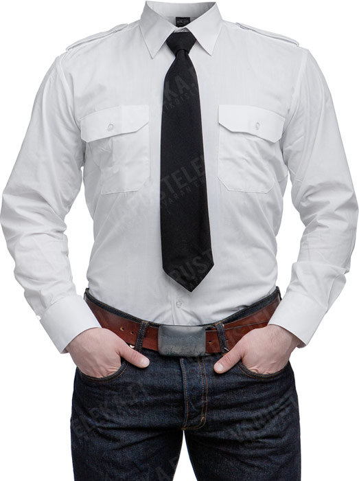 Mil-Tec collared shirt, white