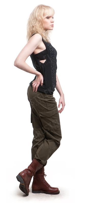 Austrian M75 field trousers, olive drab, surplus