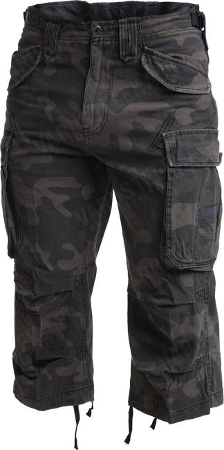 Brandit Industry 3/4 shorts, Dark Camo