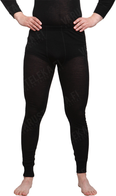 Särmä merino wool long johns, black
