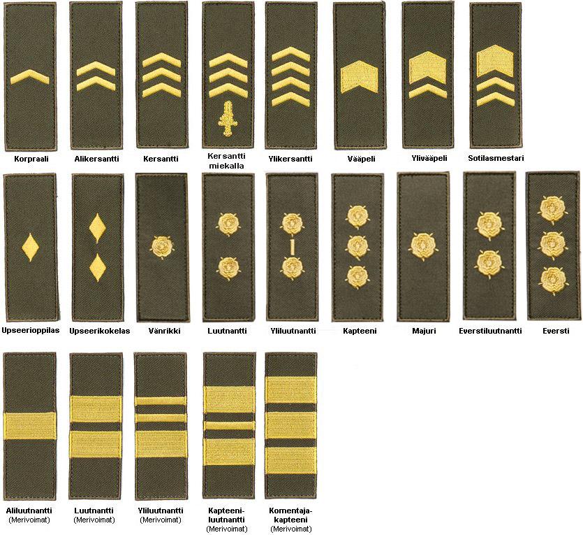 Maavoimat Sotilasarvot