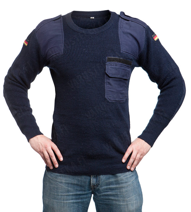 BW pullover, surplus, blue