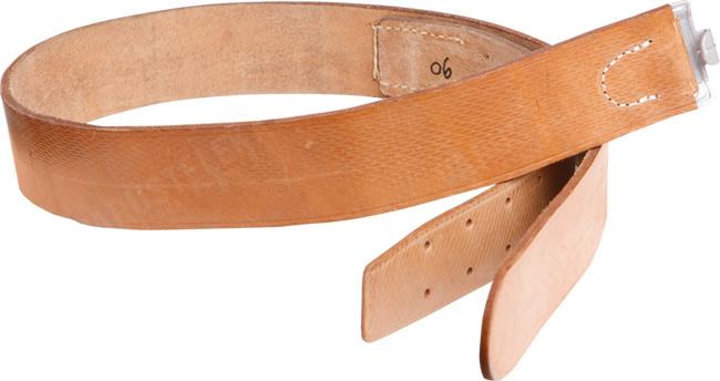 Czech leather belt without buckle, surplus