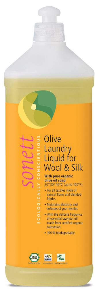 Sonett olive laundry liquid for wool and silk 1 l