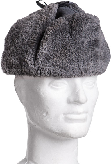 Finnish fur hat, gray, surplus