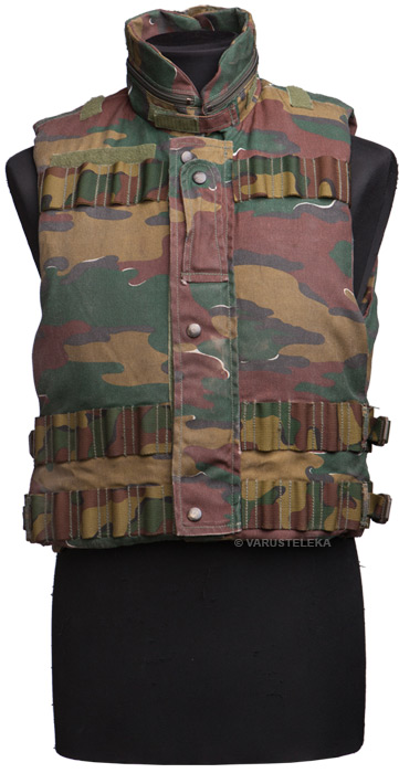 Belgian fragmentation vest with padding material, surplus