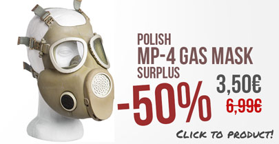 Offer of the week:Gas Mask -15%
