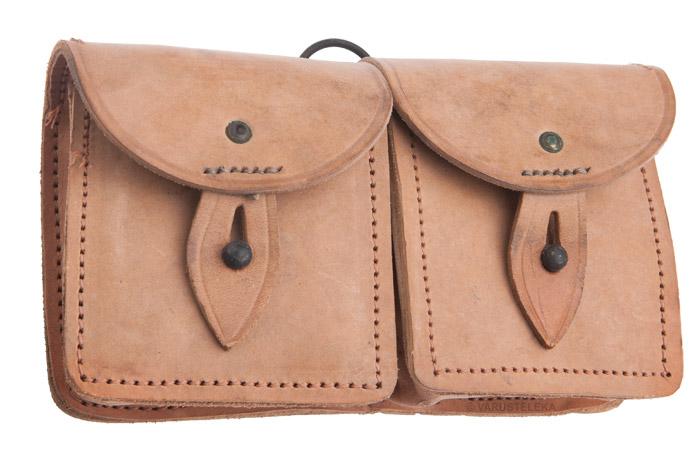 French MAS-49 ammunition pouch, leather, surplus
