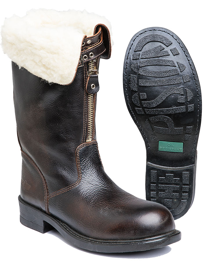 Italian winter boots with felt lining, surplus