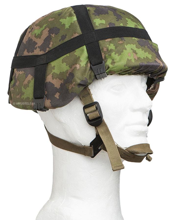 Finnish M05 helmet cover, woodland/snow camo, surplus