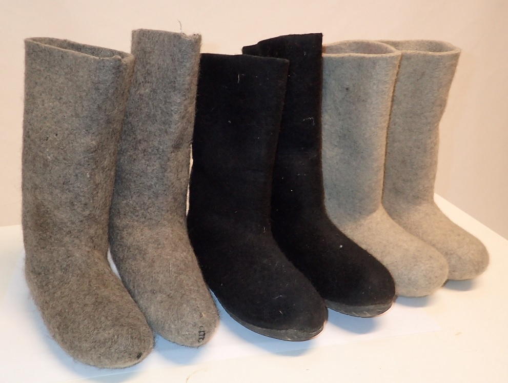 Felt boots, surplus
