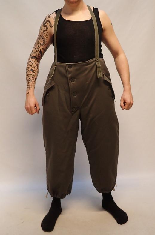Wehrmacht reversible winter trousers, gray/white, repro, surplus, Medium