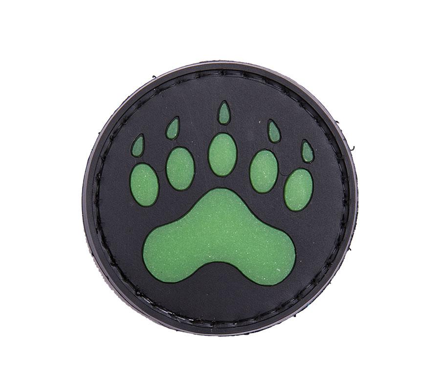 Bear Paw, Glow-in-the-dark PVC morale patch