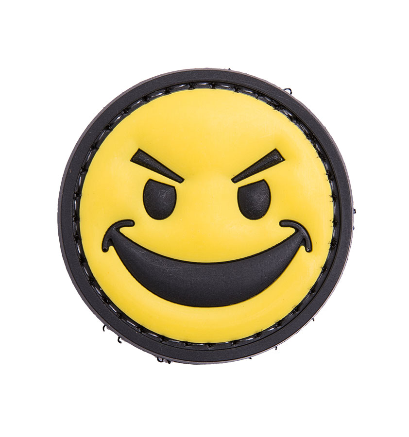 Smiling face PVC morale patch