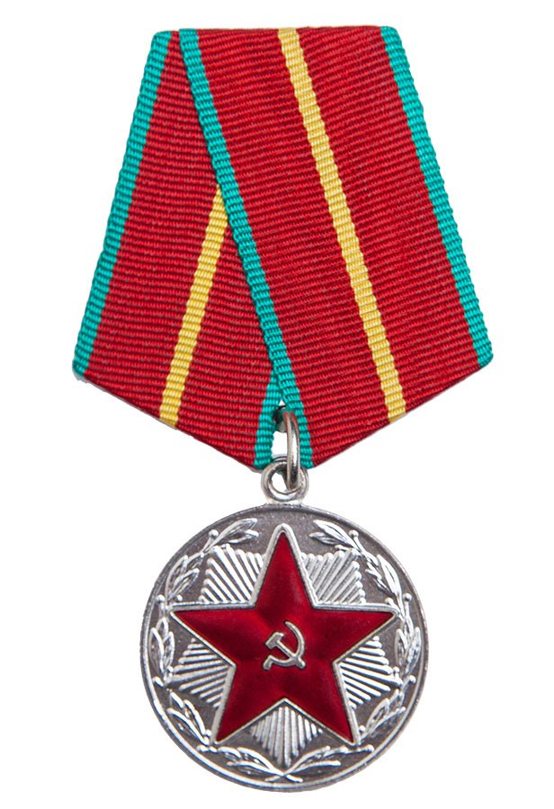 """Soviet medal, """"20 years of excellent military service"""", surplus"""