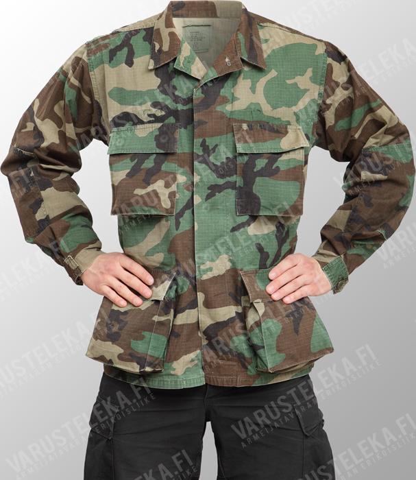 US BDU jacket, Woodland, used