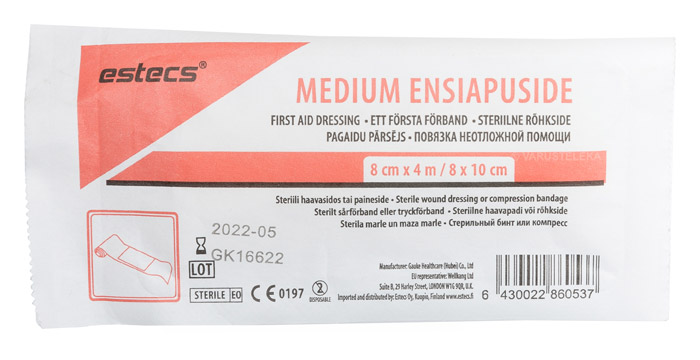 Estecs first aid dressing medium