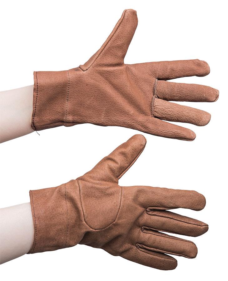 Czech women's leather gloves, lined, surplus
