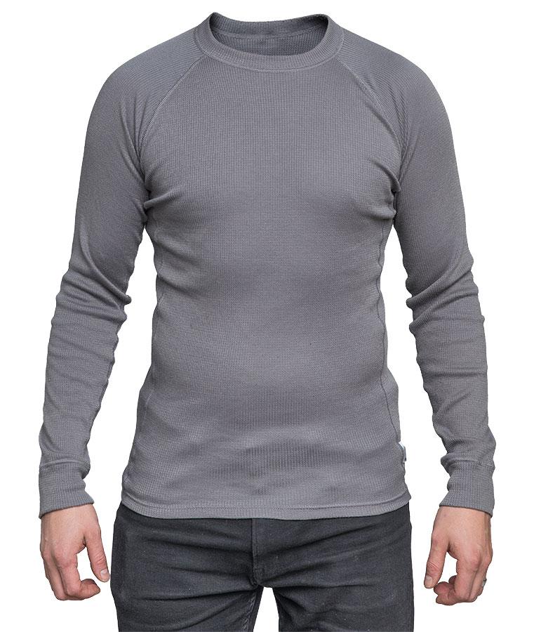 Dutch undershirt, long sleeve, gray, surplus