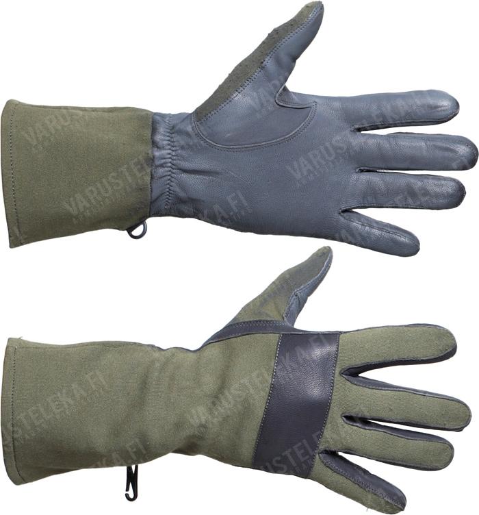 BW combat gloves, leather/Nomex, olive drab, surplus