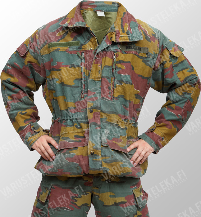 Belgian M90 field jacket, Jigsaw-camo, surplus