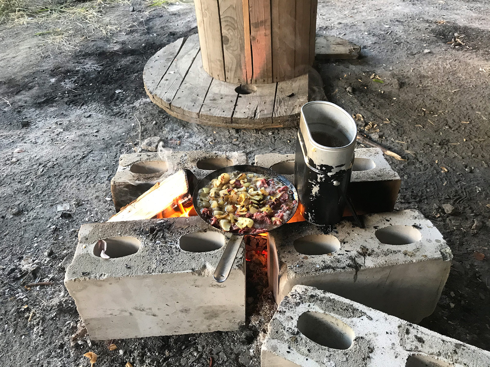 The Swiss mess tin stored my survival kit and worked as a cooking vessel