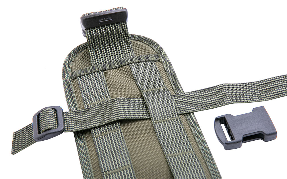 DIY webbing suspenders, weaving the strap in the front.