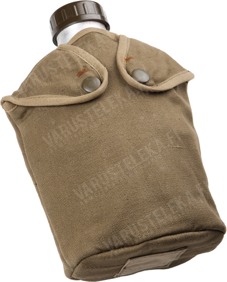 French M47 canteen with cup and pouch, used