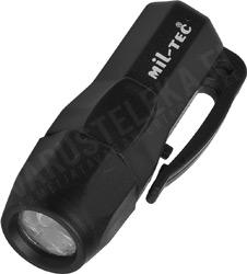 Mil-Tec 3 led mini torch, black