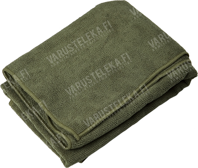 Mil-Tec microfibre towel with carrying bag, olive drab