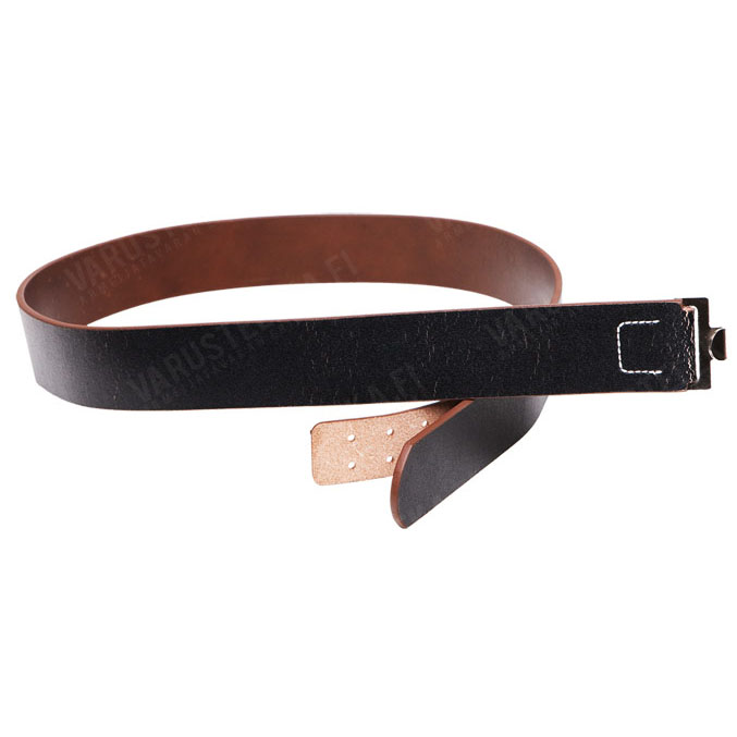 Wehrmacht fake leather belt w/o buckle, black, reproduction