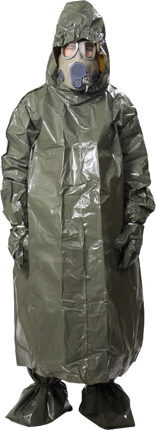 """Czech nuclear protective poncho, with hood and """"boots"""", surplus"""