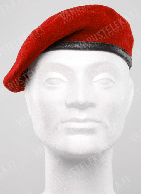 BW beret, red, surplus