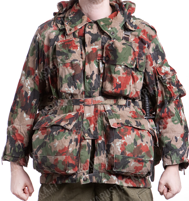 Swiss super field jacket M70, Alpenflage, used