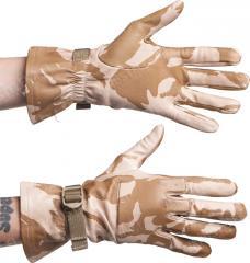British combat gloves, leather, Desert DPM, surplus