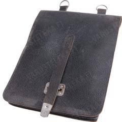 NVA map case, leather, black, surplus