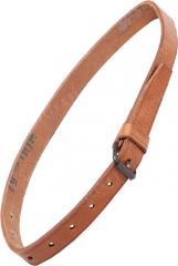 Czech general purpose strap, brown, leather, surplus