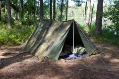 BW two-man tent, Flecktarn, surplus