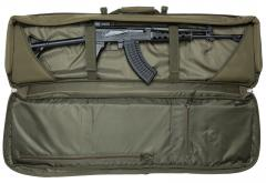 Mil-Tec gun carry bag, big. The content of the main compartment is secure and won't escape through the zipper.
