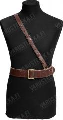 Czech officers leather belt with shoulder strap, surplus